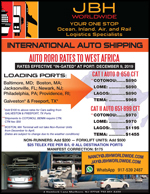 JBH Worldwide  - Great Rates to West Africa