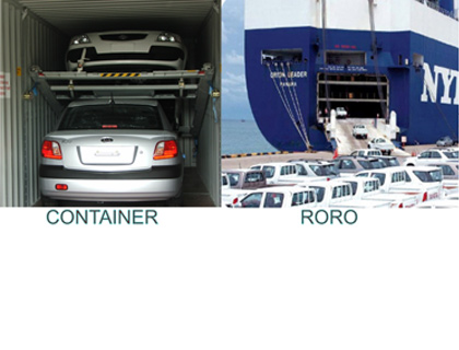 Ship your car by contrainer or drive it on the ship